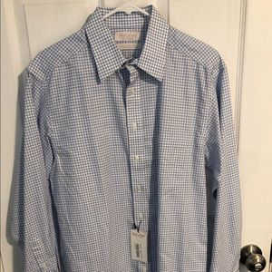 NWT Men's Gingham dress shirt